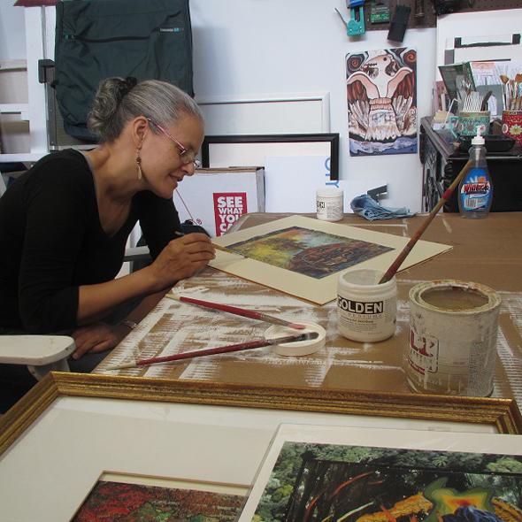 Alyssa in Her Studio