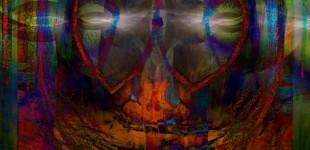 Panther Jaguar Reprise Mixed Media Collage Composite Digital Print
