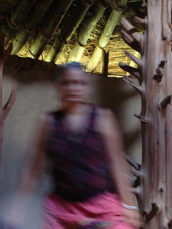 Alyssa inside the temple