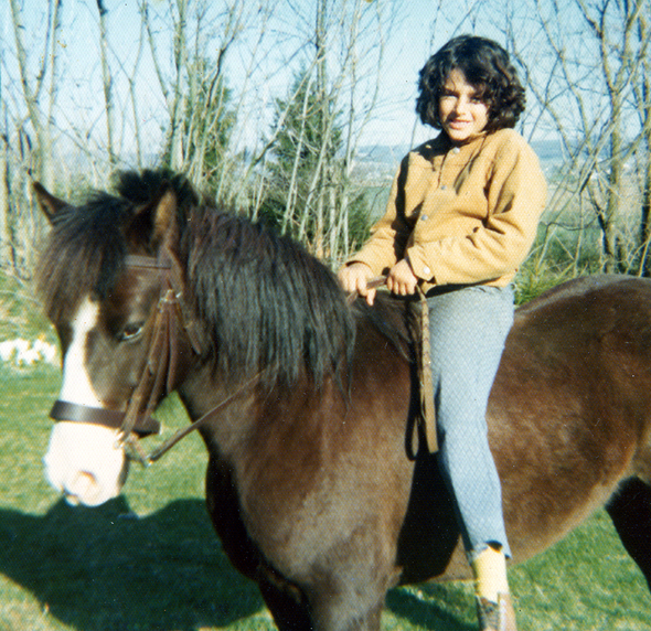 At age 8 on my pony in Fleetwood, PA