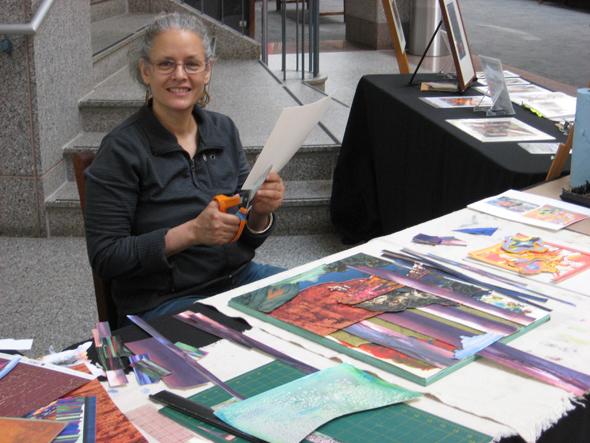 Alyssa Hinton History Museum, Artist Cutting 2