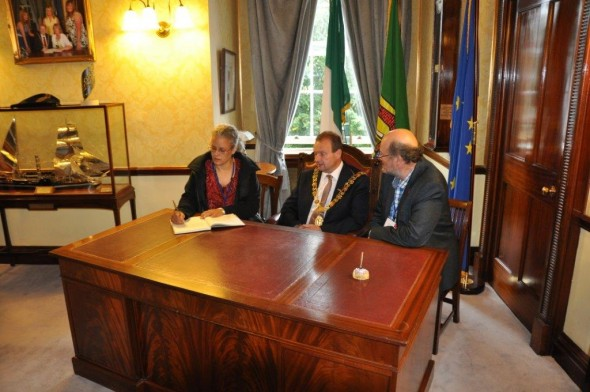 Lord Mayor Civic Reception and signing of visitors' book