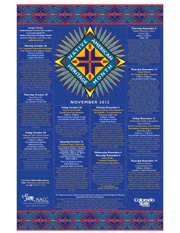 Native American Heritage Month Event Poster