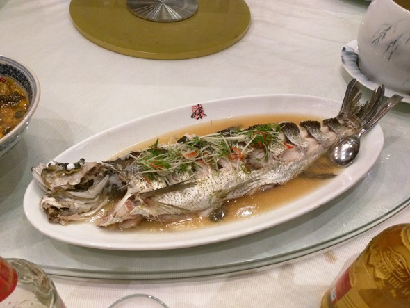 Fancy Fish Dish In My Honor! (In fact we had many seafood dishes)