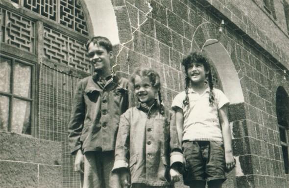 Michael, Cathy & Alyssa Hinton in Dazhai Commune, Shanxi Province, China