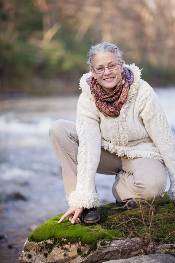 Alyssa Hinton on the Eno River