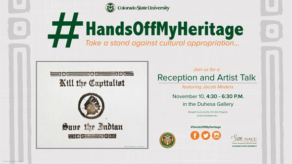 #HandsOffMyHeritage Cultural Appropriation Poster